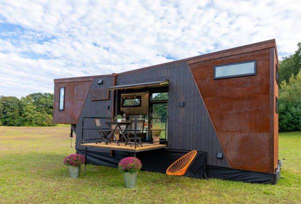 咖啡能源小屋外觀使用耐候鋼