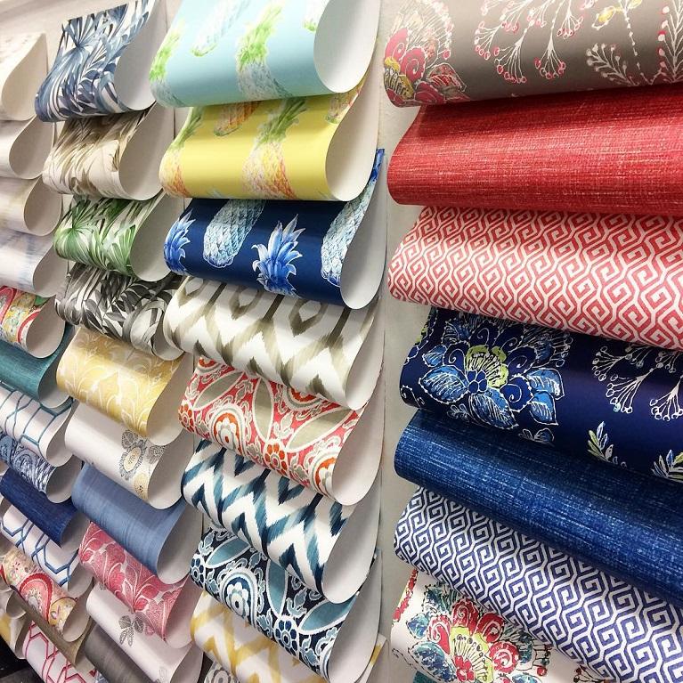 各種壁紙樣式顏色陳列