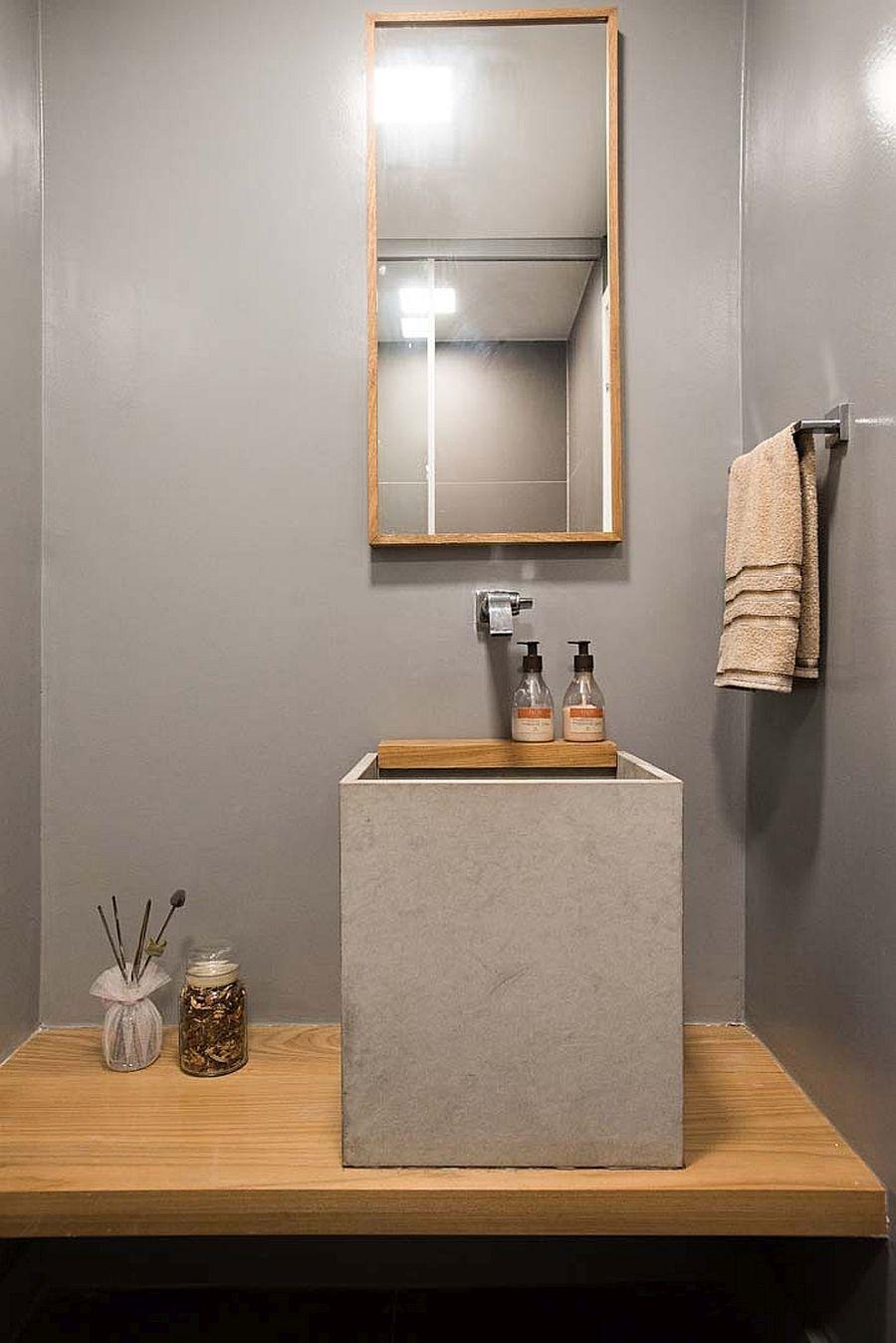 正方形水泥臉盆洗手槽