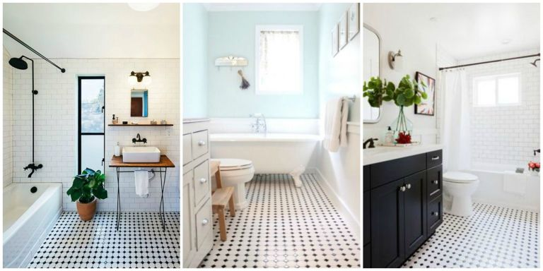 Classic Black And White Bathroom Designs :