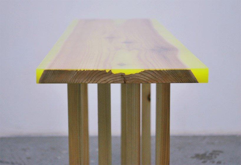 桌子,書桌,家具,日本,傳統,傢俱,實木,環氧樹脂,epoxy,螢光