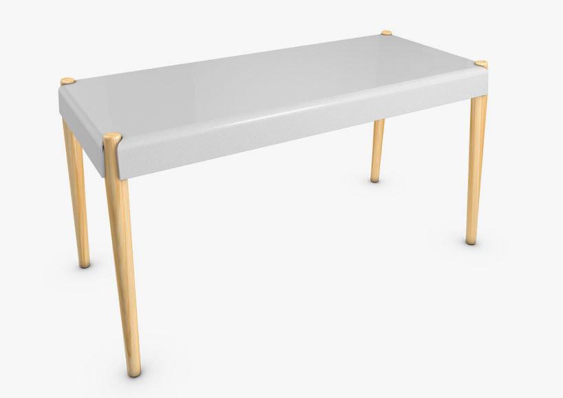 白色的板凳