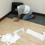 PVC塑膠木地板施工