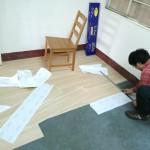 測量PVC塑膠木地板