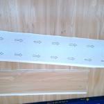 PVC塑膠木地板背面