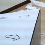 PVC塑膠地板施工裁切