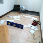 PVC塑膠木地板施工收尾圖