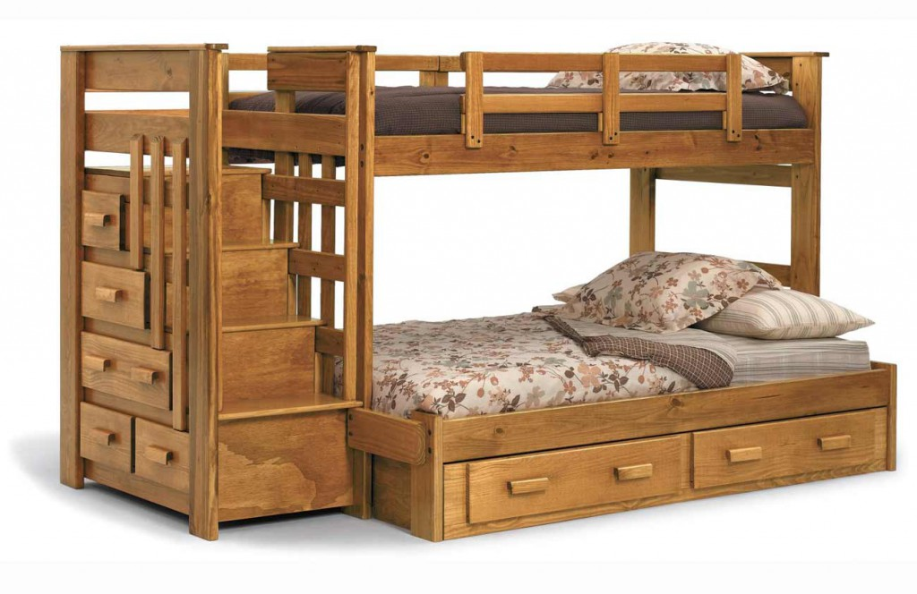 amazing-bunk-beds-teen-loft-beds-with-natural-wood-colors-and-storage-drawer-and-stairs-