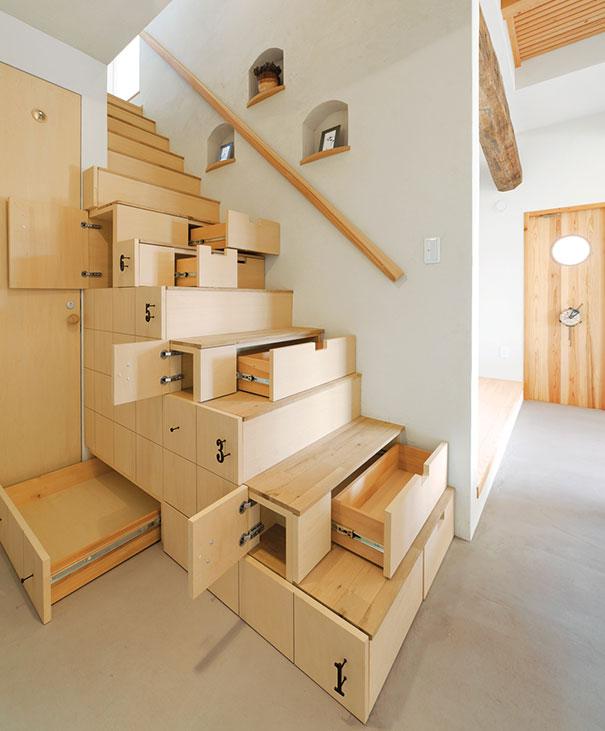 收納抽屜樓梯室內設計照片