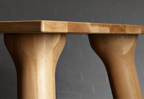 大胖桌腳餐桌家具桌腳特寫