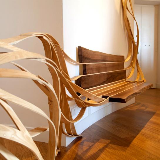 客製化實木樹枝家具設計側面