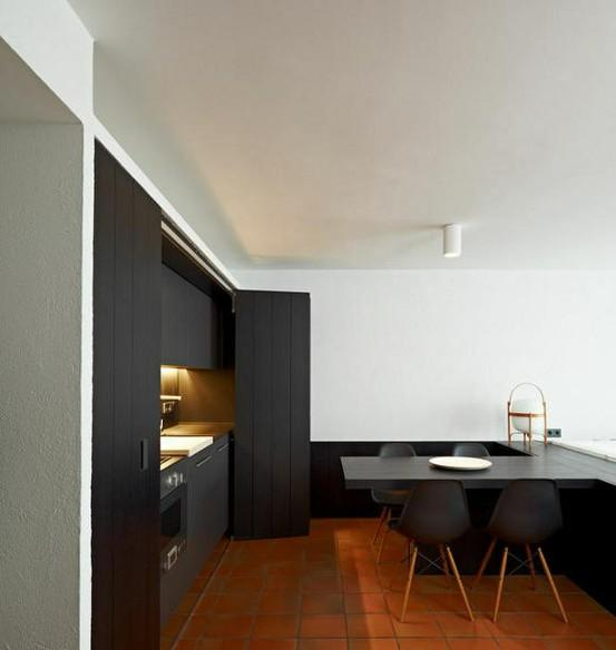 black-concealed-kitchen