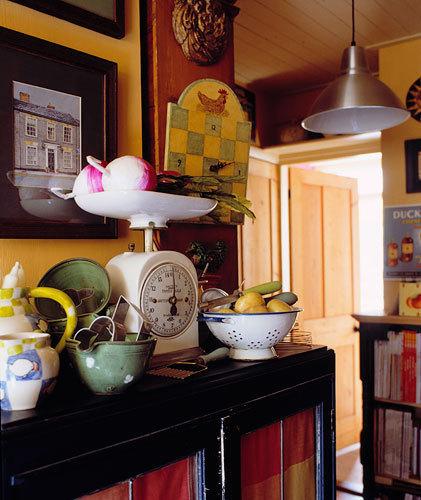 鄉村風溫馨廚房照片