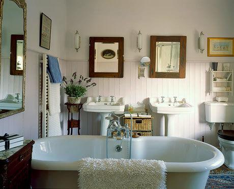 鄉村風溫馨浴室照片