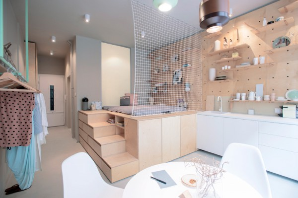 匈牙利布達佩斯小公寓室內設計