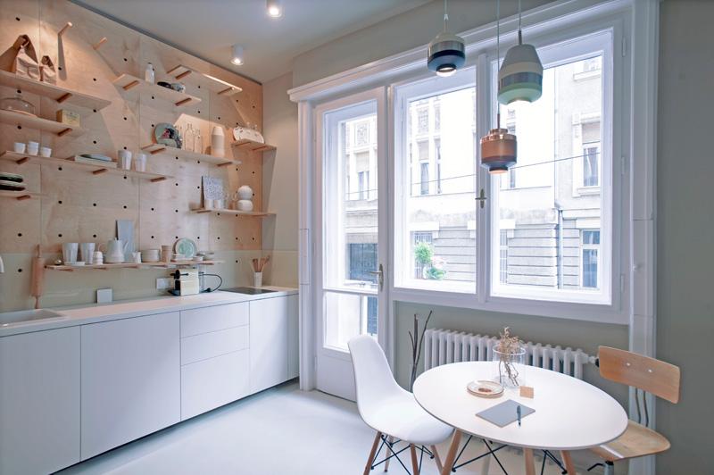 旅行者小公寓餐廳廚房