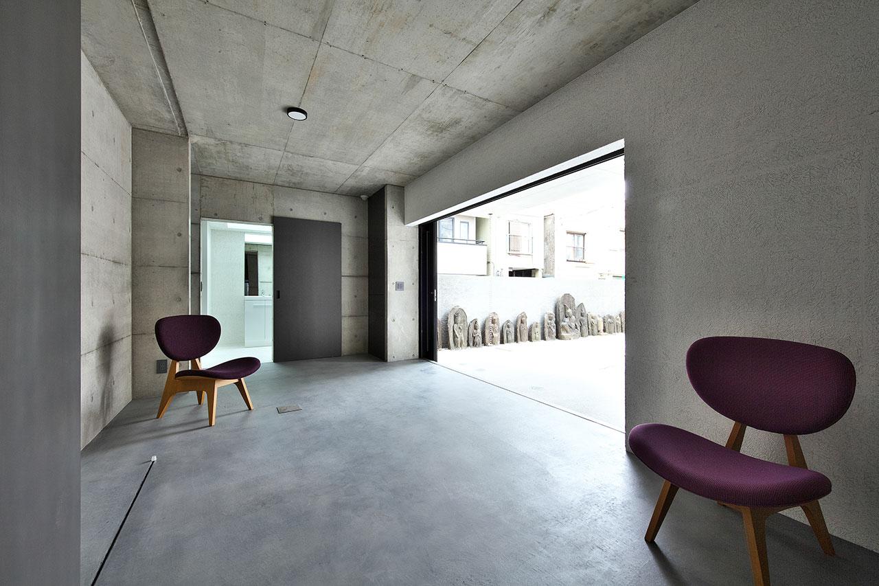 清水模 簡約 室內設計的大廳