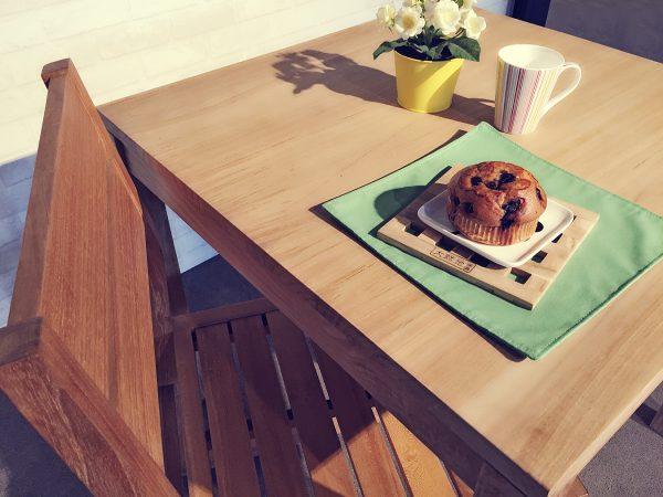 柚木原木餐桌餐椅餐廳擺設情境照
