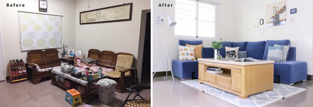傳統沙發客廳V.S.新佈置的現代沙發客廳