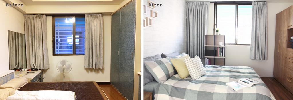 傳統臥室經家具規劃師改造後的樣子