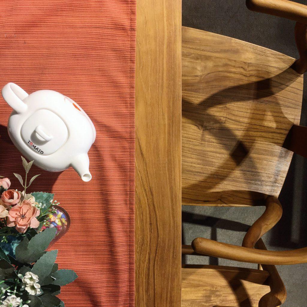 柚木扶手椅