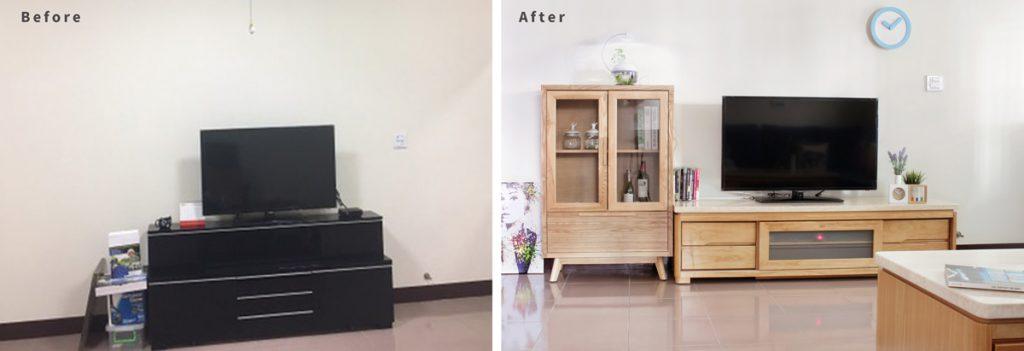 電視櫃, 改造客廳