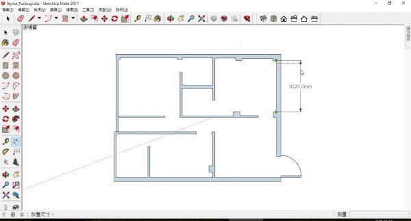 SketchUp 平面圖