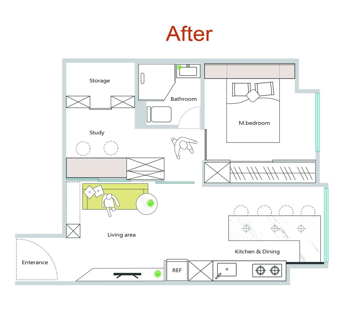 板穚公寓住宅改造後平面圖