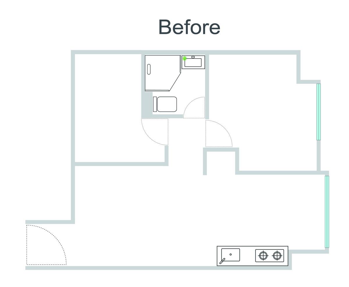 板穚公寓住宅改造前平面圖