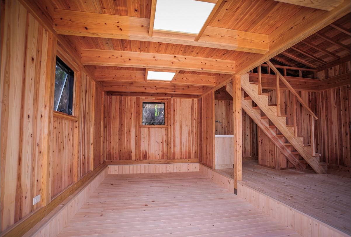檜木及杉木木屋室內結構