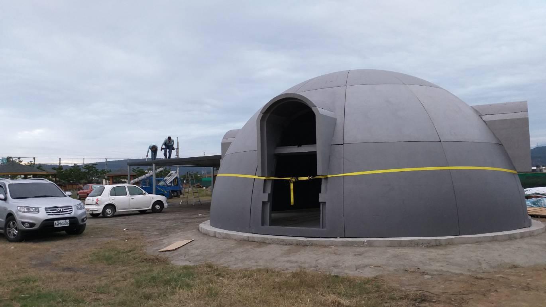 太空屋組裝完成側面照