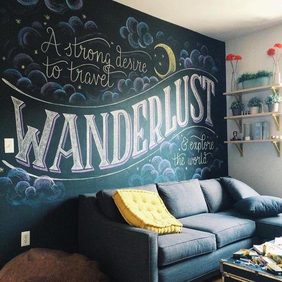 客廳黑板漆