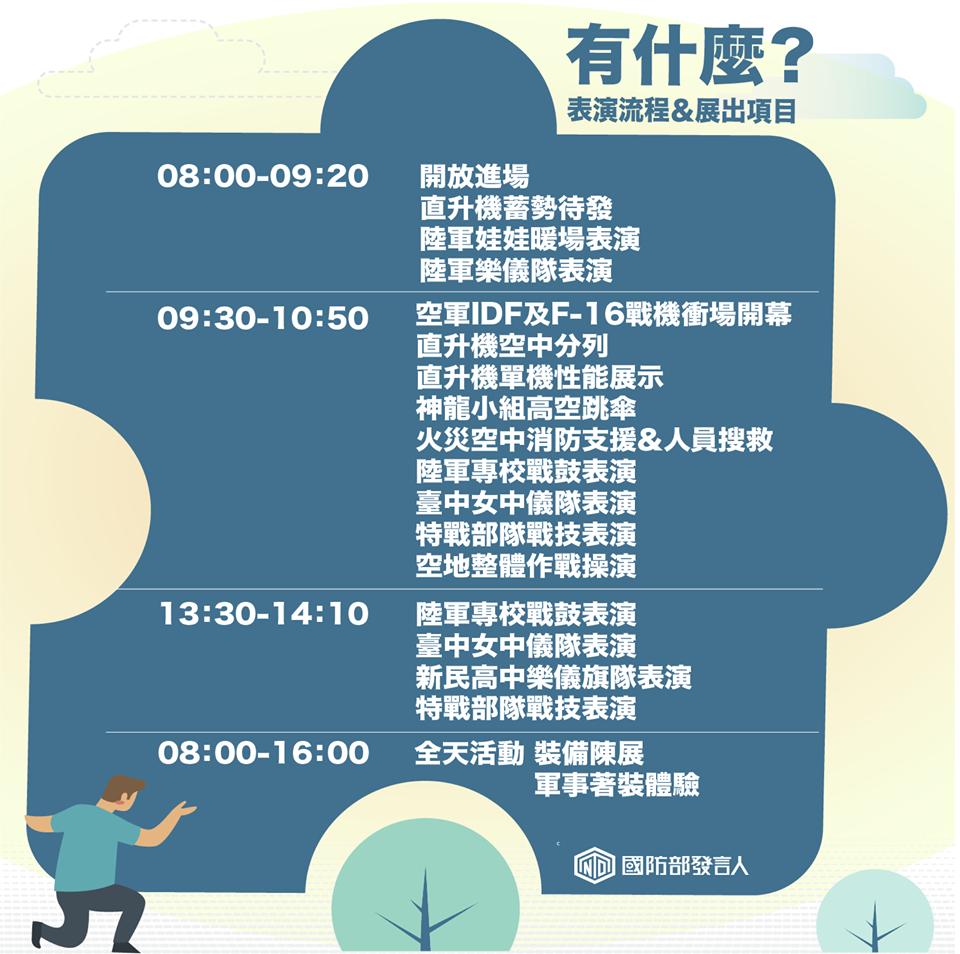 軍區開放時程活動表