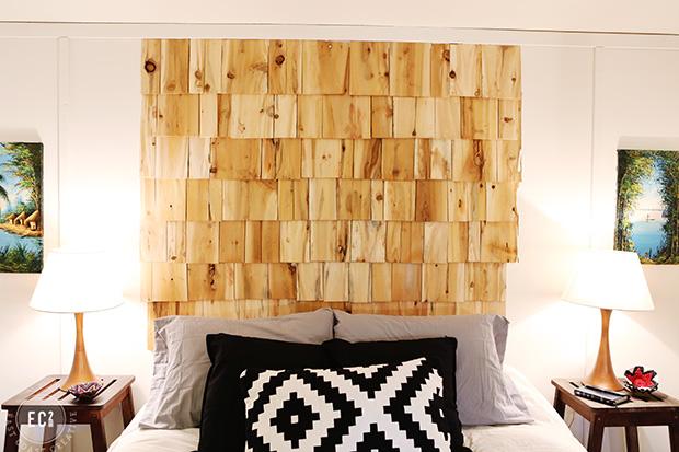木片床頭板DIY