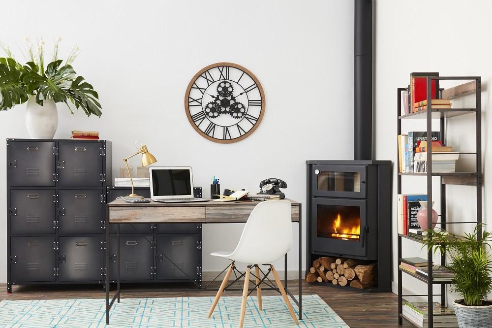金屬柳釘黑色工業風收納櫃+金屬木板層架