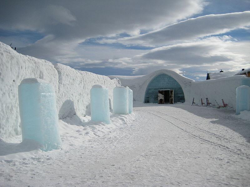 瑞典IceHotel 的入口