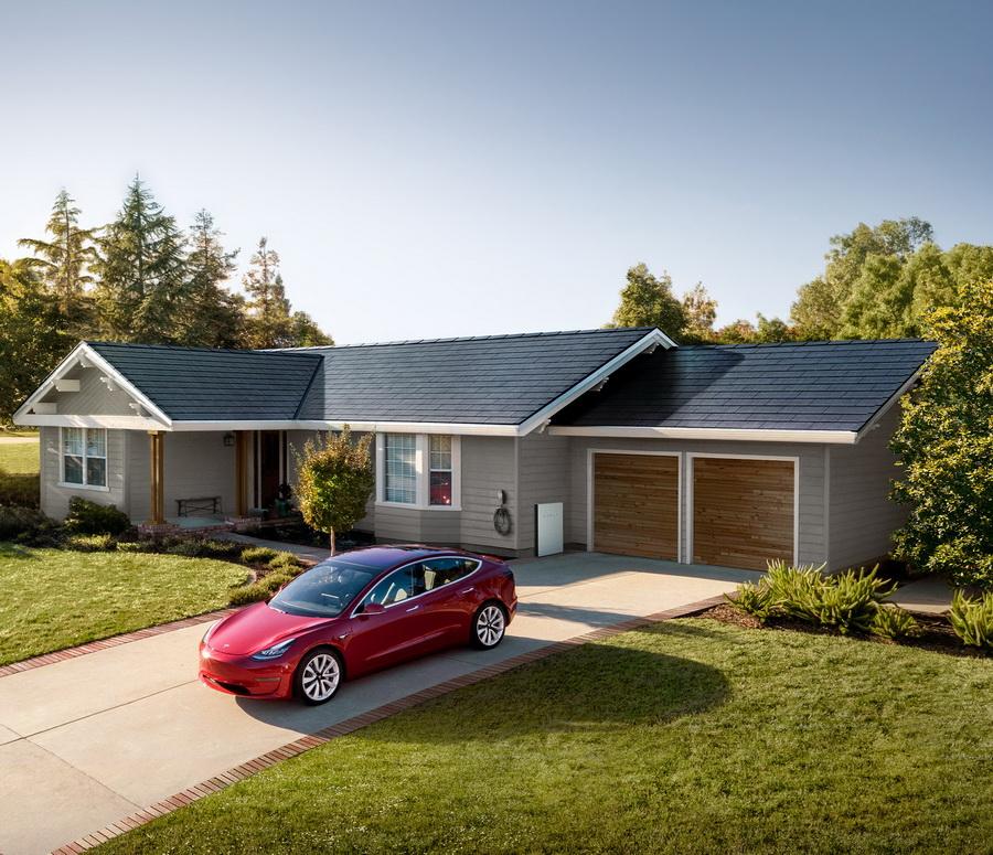 太陽能屋瓦發電搭配電動車的生活型態