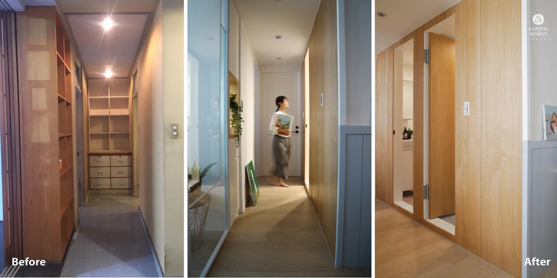 走廊裝修前與裝修後室內設計靈感