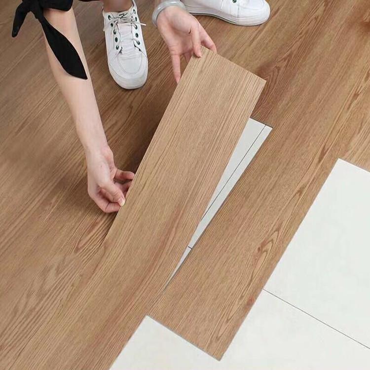 自黏式PVC木紋塑膠地板