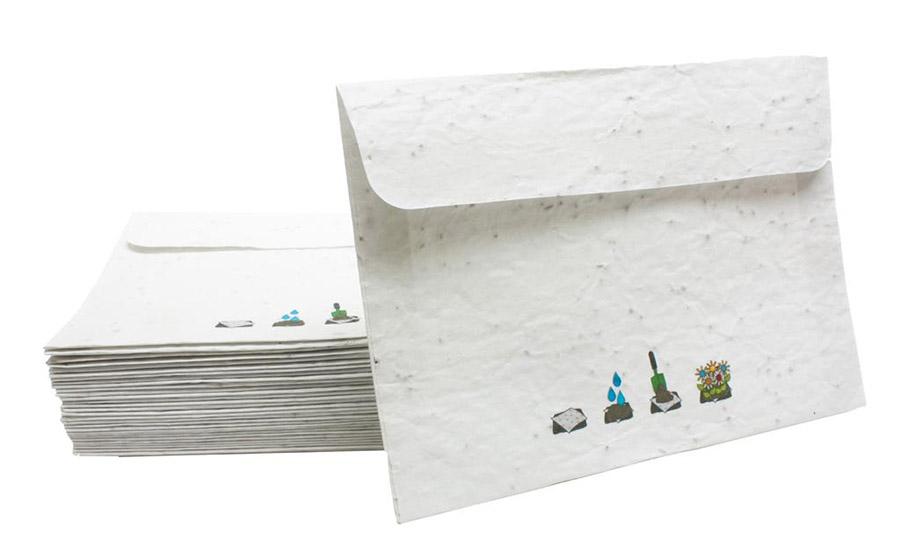 可種植種子紙製作信封